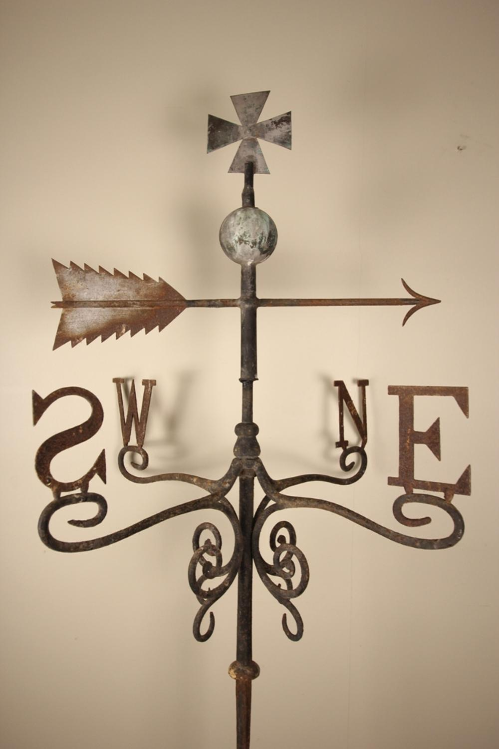 Large 19th C. Iron & Copper Weathervane