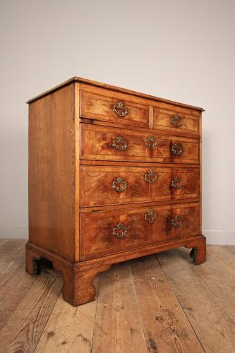 18th Century Walnut & Oak Chest of Drawers