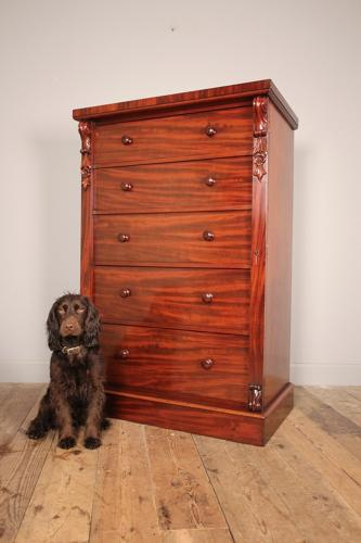 Large 19th Century Wellington Chest