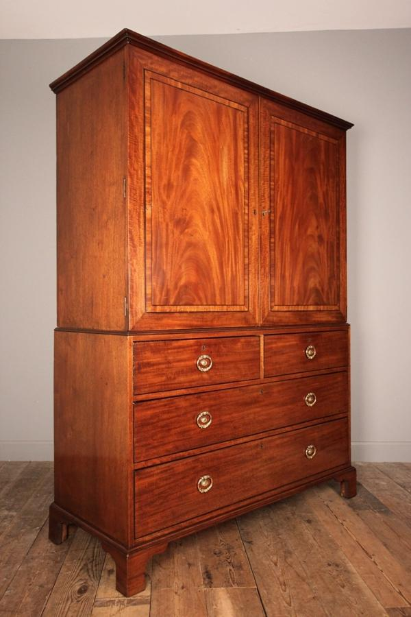 Wonderful Gillows Mahogany Linen Press