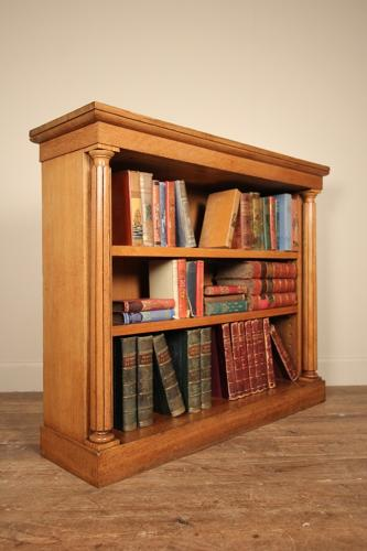 19th C  Oak Dwarf Bookcase