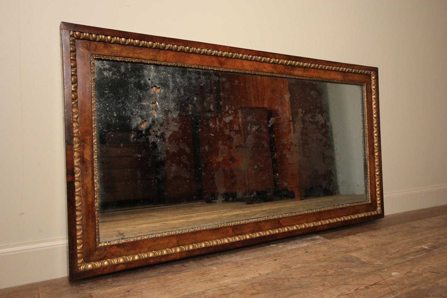 Magical 19th Century Walnut Mirror