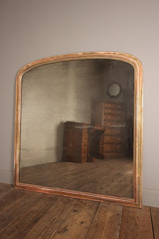 Highly Original Distressed 19th C. Overmantel Mirror