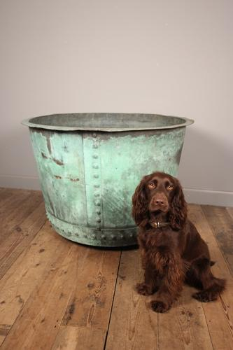 Mahoosive Rare 19th C. Copper Planter