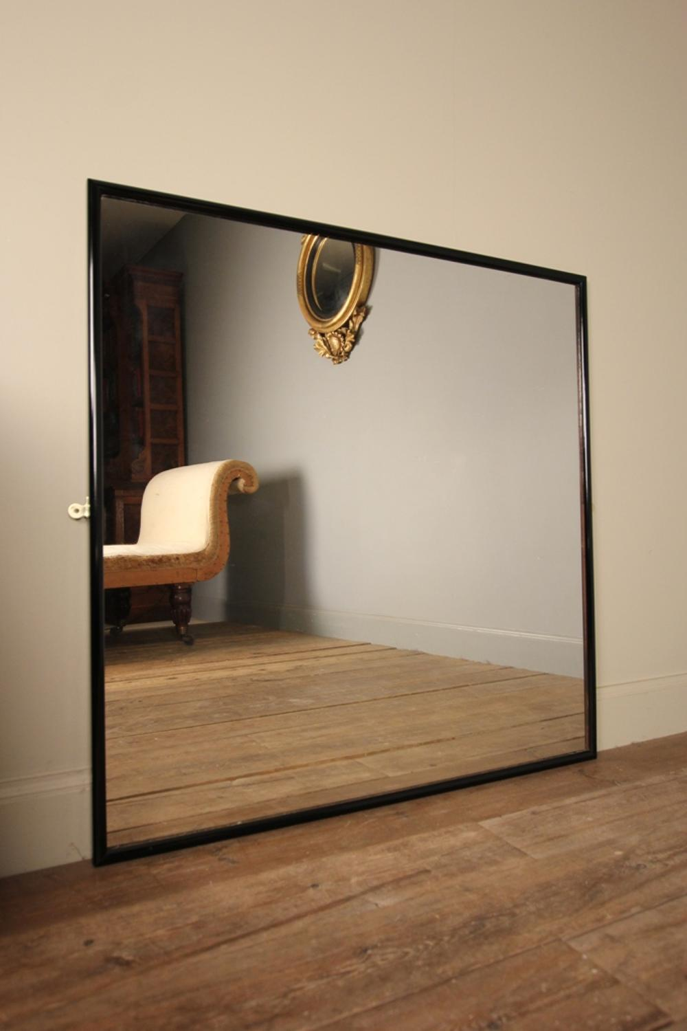 Early 20th C. Ebonised Outfitters Mirror