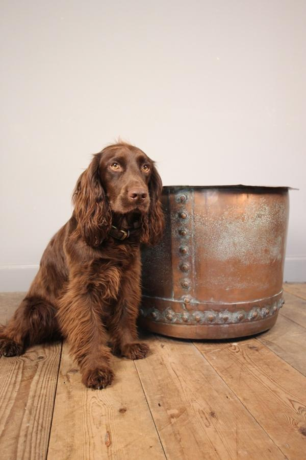 19th C Copper Planter / Log Bin