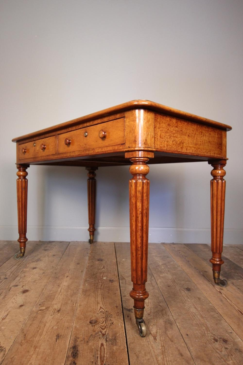 19th C Oak Library Writing Table