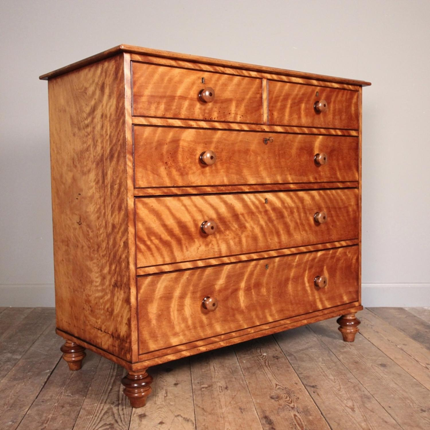 Holland & Sons Satin Birch Chest of Drawers