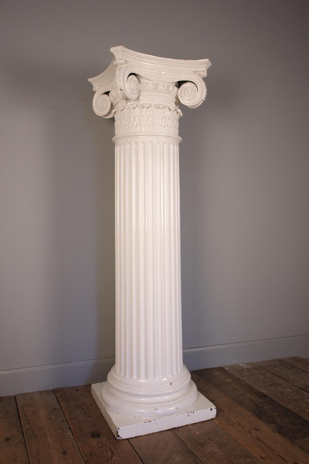 Country House 19th Century Ionic Column Jardiniere Stand