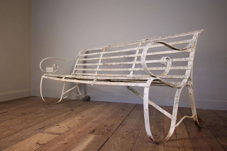 Stunning Victorian Strap Work Iron Bench