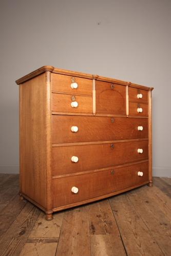 Superb Arts & Crafts Oak Inlaid Chest of Drawers