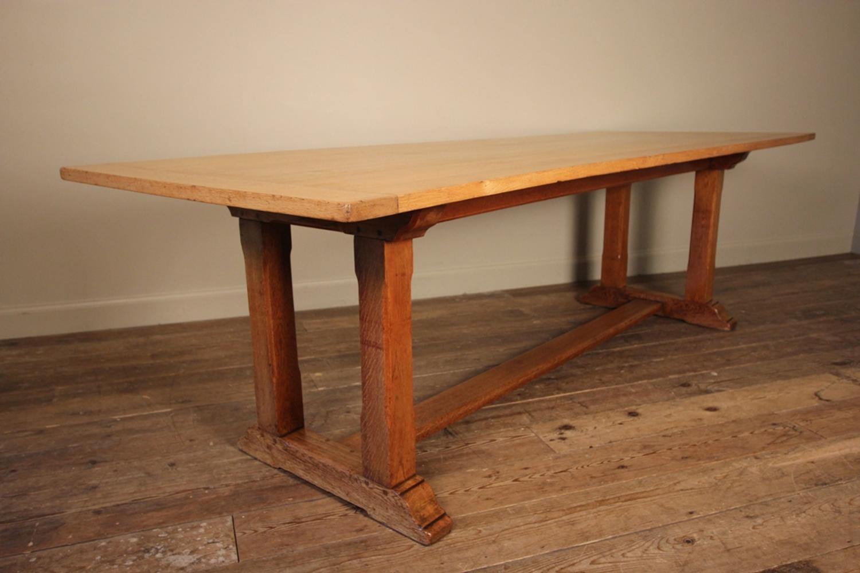 Large Ambrose Heal Oak Refectory Table - 8ft