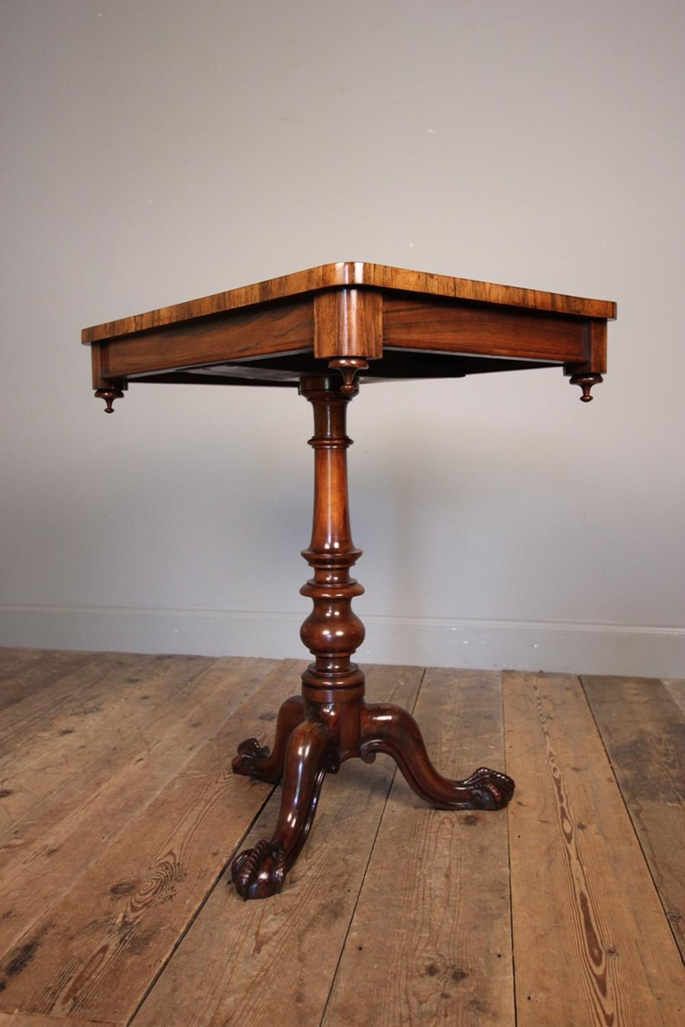 Gillows Goncalo Alves Tripod Table