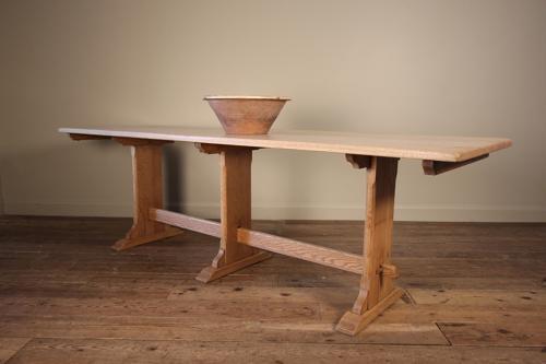 Pale Oak Edwardian Farmhouse Table