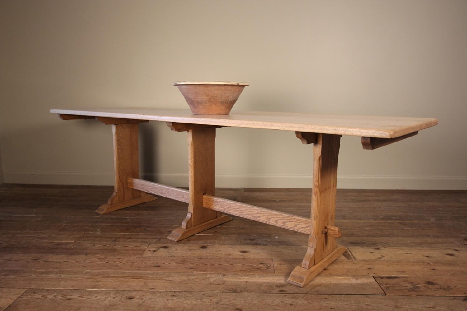 Pale Oak Edwardian Farmhouse Table