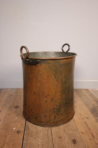 Large Copper Log Bin