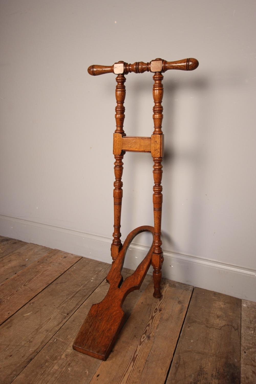Lovely 19th C. Oak Boot Jack