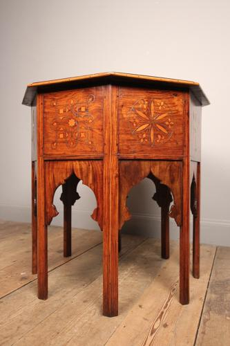 Anglo Indian Brass Inlaid Table