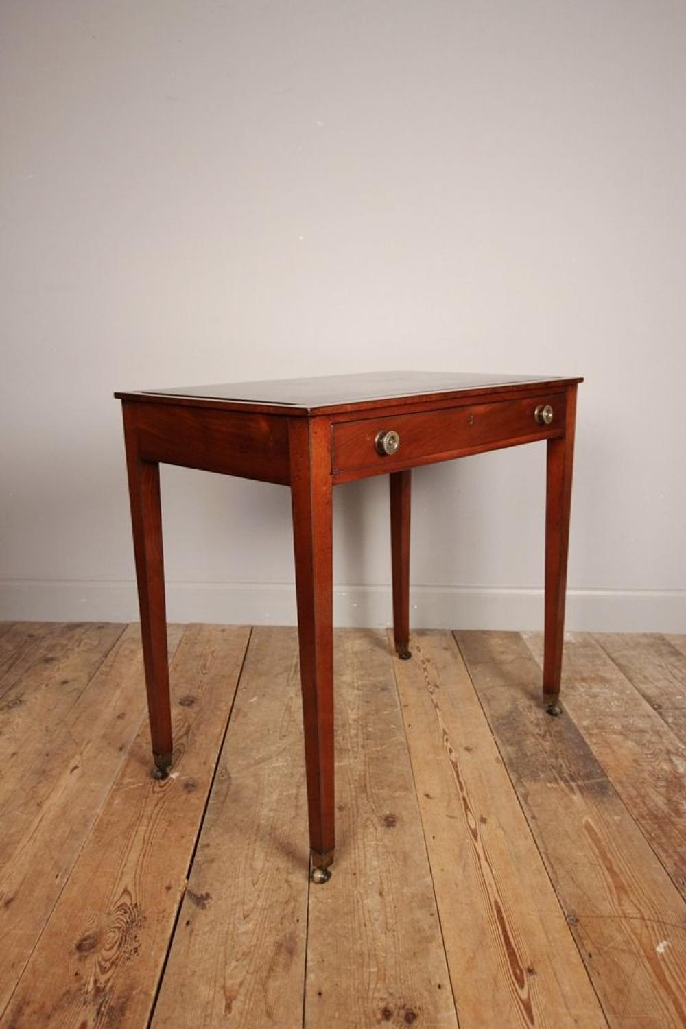 18th C Mahogany side table with Ashford Marble Top
