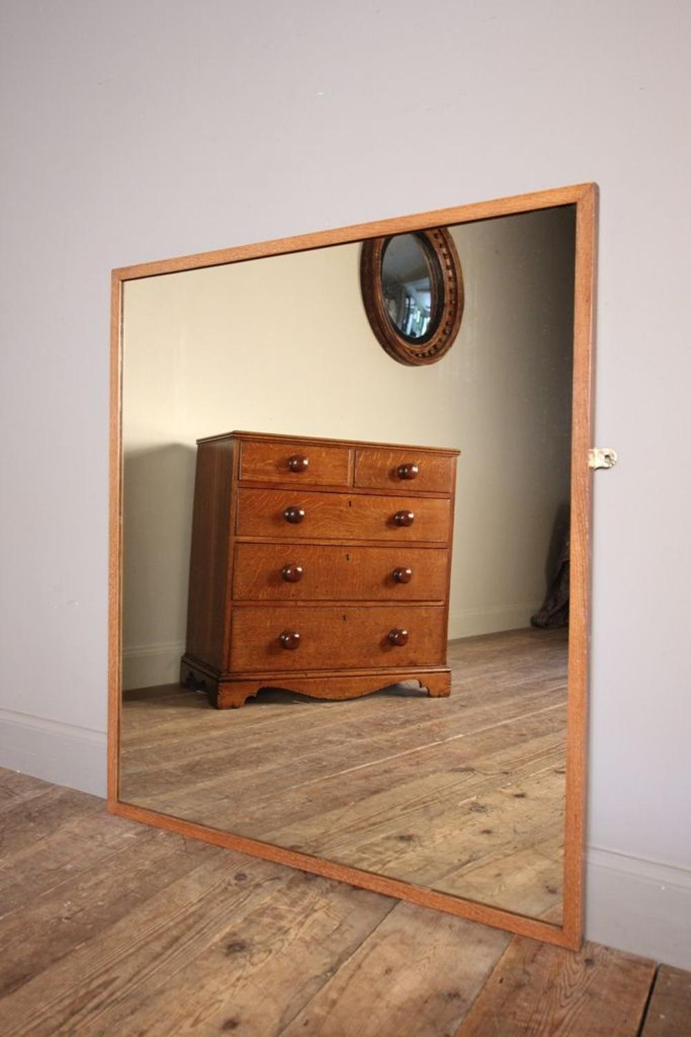 Edwardian Outfitters Oak Mirror