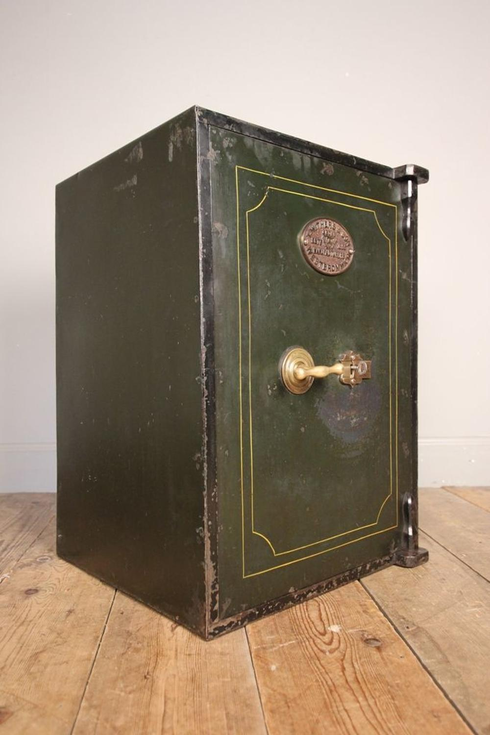 19th C. Cast Iron Safe by T. Withers & Sons