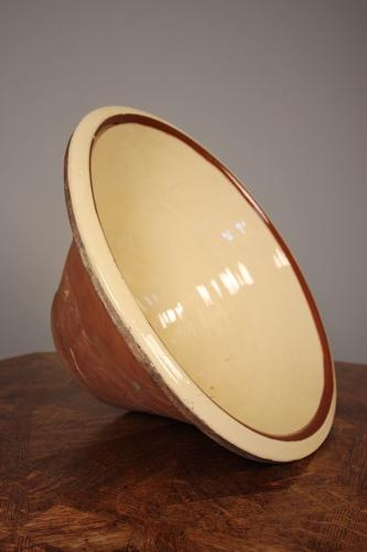 Giant Victorian Earthenware Dough Bowl