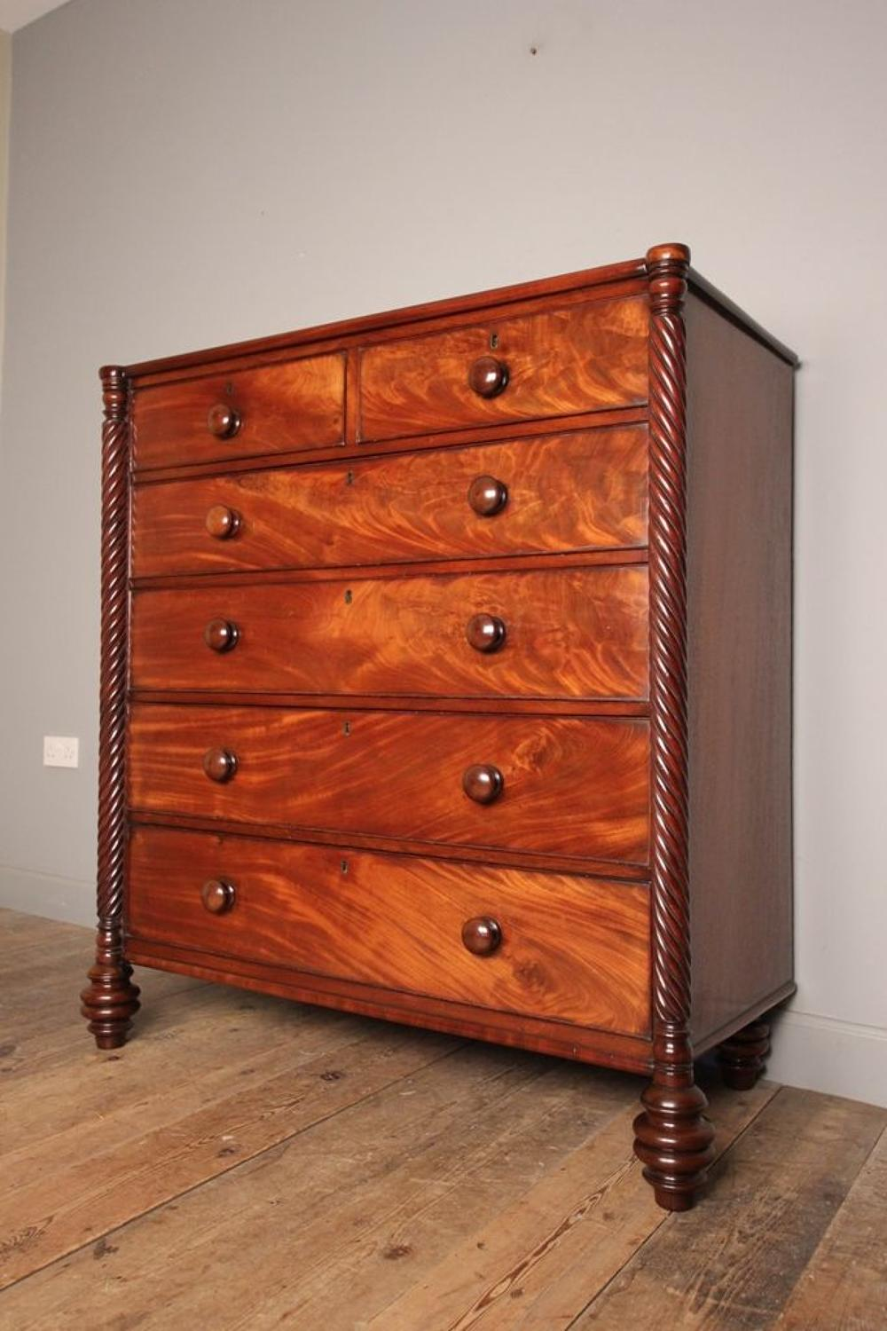 George IV Mahogany Country House Chest of Drawers