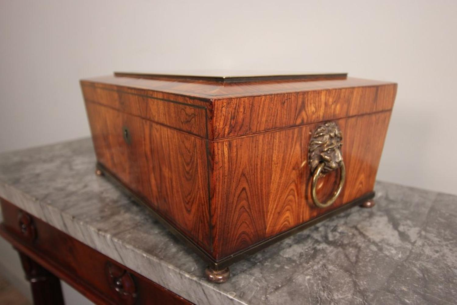 Wonderful Regency Tulipwood Box by Edwards of London
