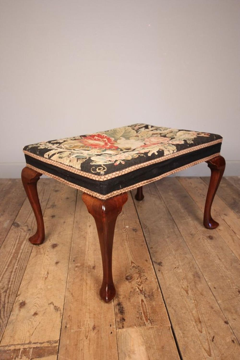 19th Century Large Mahogany Country House Stool