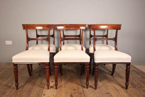 Super Quality Set 6 William IV Rosewood Dining Chairs