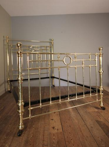 Impressive 19th C. King Size Brass Bed (5 ft)