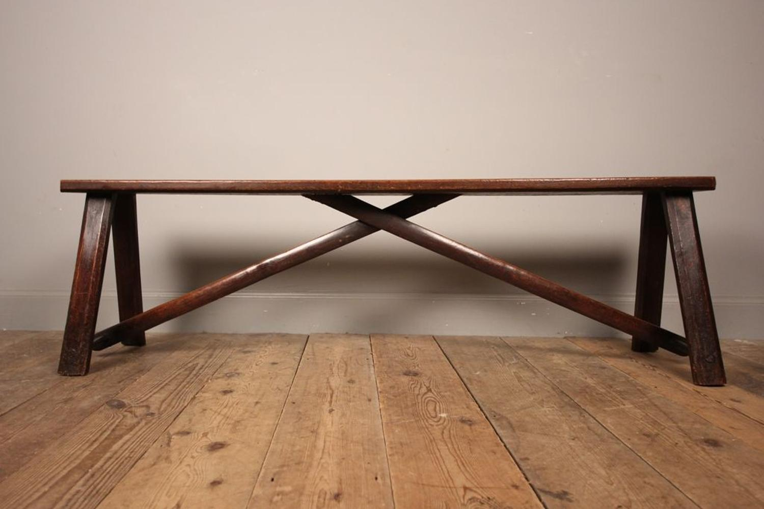 Stylish Georgian Oak Bench