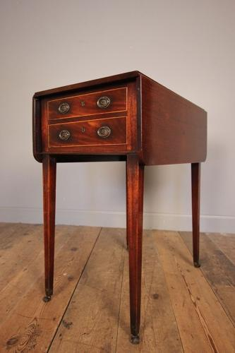 George III Mahogany Baby Pembroke Table