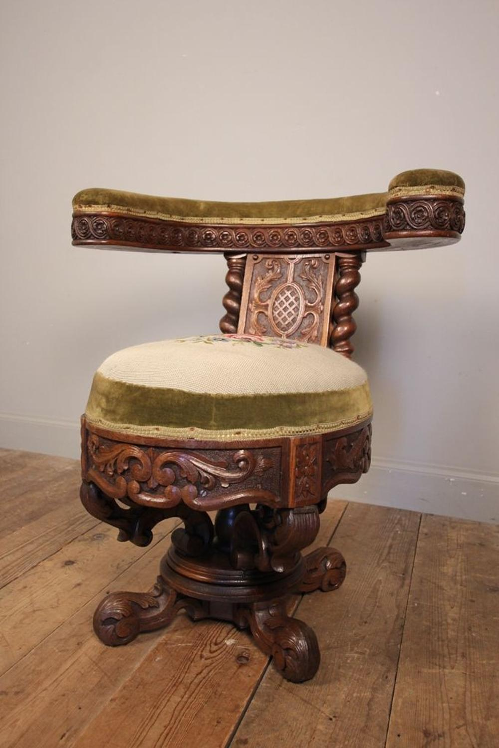 Rare 19th C. Cock Fighting Chair
