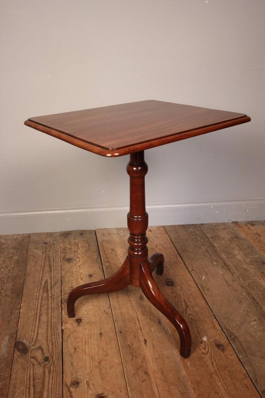 Classic 19th C Mahogany Tripod Lamp Table