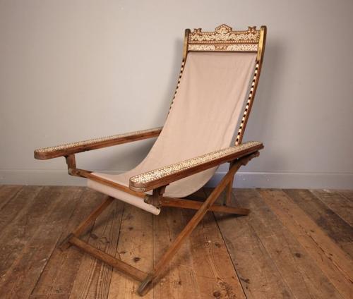 Moorish Anglo Indian Plantation Chair