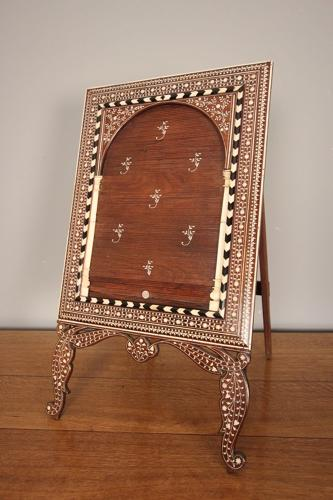 19th C Inlaid Anglo Indian Dressing Table Mirror