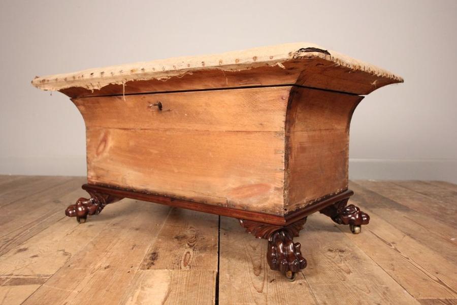 Regency Sarcophagus Mahogany Ottoman