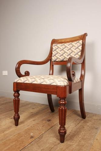 George IV Gillows Mahogany Elbow Chair