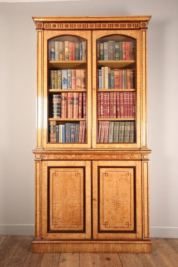 Holland & Sons Hungarian Ash and Purple Heart Bookcase Cabinet