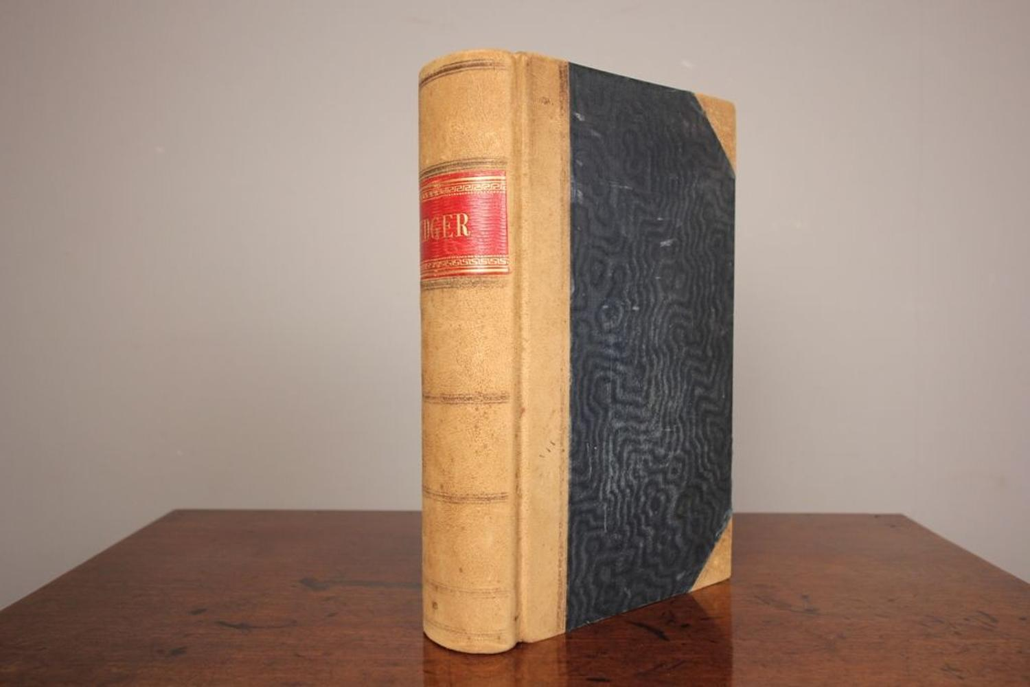 Edwardian Leather Bound Ledger