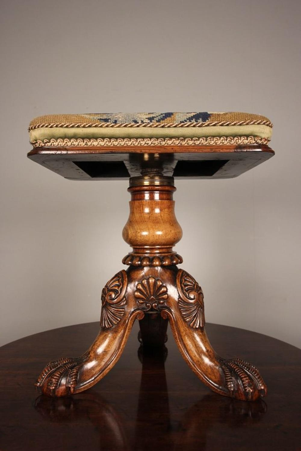 Gillows George IV Revolving Rosewood Stool