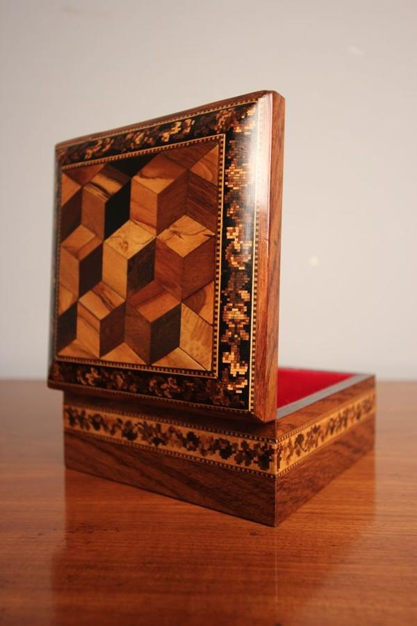 19th C Rosewood Tunbridge Ware Box