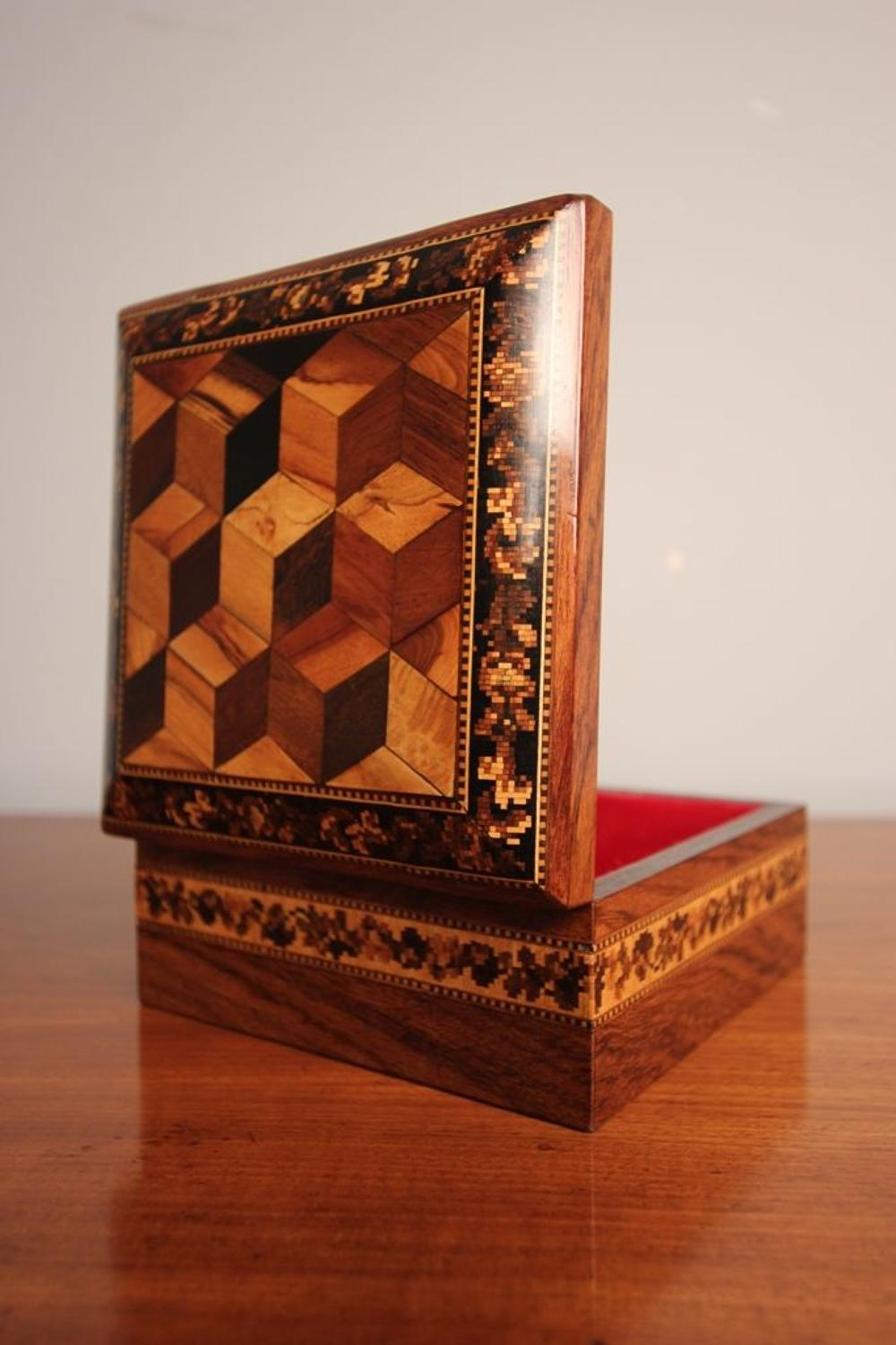 19th C Rosewood Tunbridge Ware Box