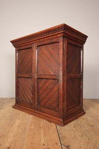 Small Gothic Oak Cabinet