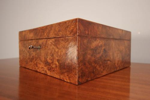 Superb 19th C. Pollard Oak Deed Box