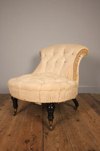 19th C High Quality Bedroom Chair