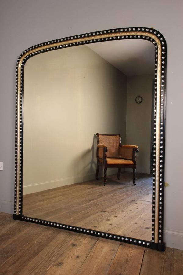 Large Irish 19th C Overmantle Mirror