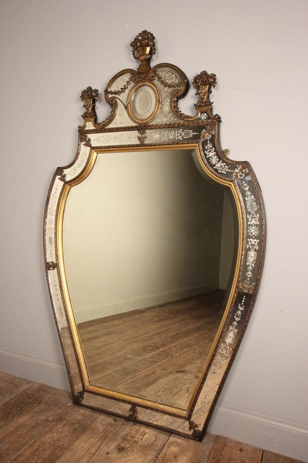 Outstanding Large 19th C Venetian Ormolu Mirror