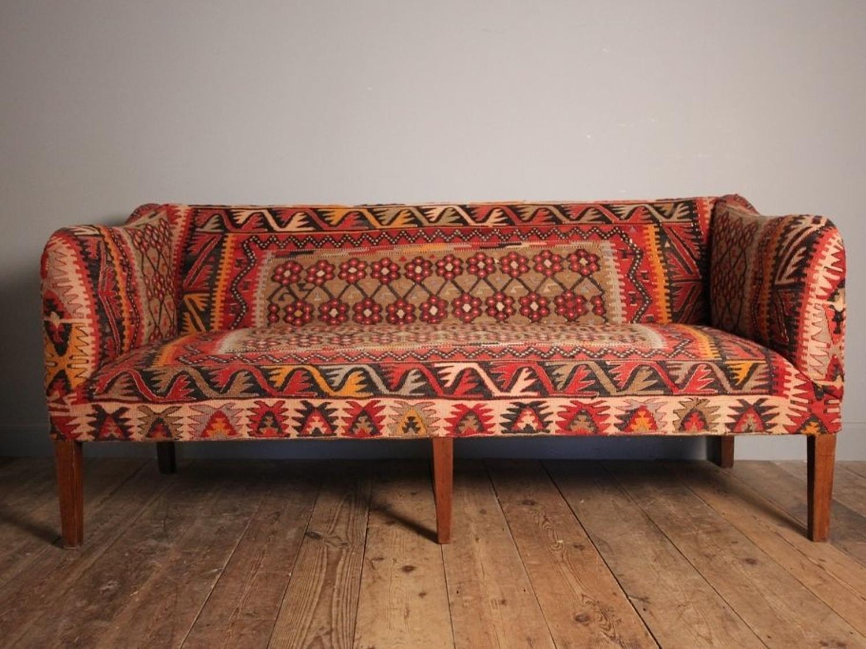 Stunning Edwardian Kilim Sofa